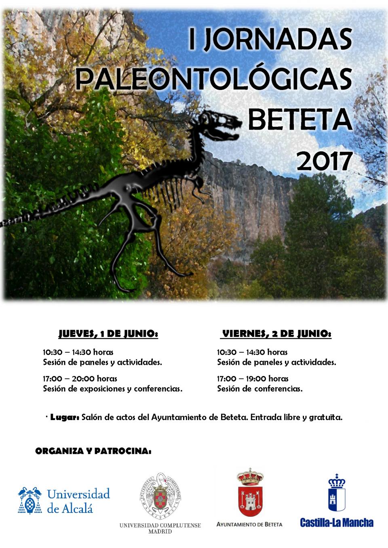 Cartel Paleontología Beteta