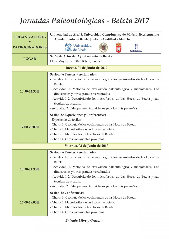 Jornadas Paleontológicas - Beteta 2017 R